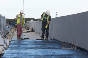 Workers pictured working at the St. Ann's Park end of The Clontarf road.