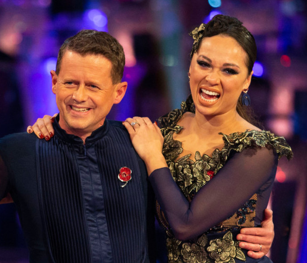 Katya Jones with Mike Bushell. Photo: PA
