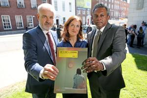 Colm O'Gorman, Exective Director of Amnesty International, Dr Rhona Mahony, Master of the National Maternity Hospital, Salil Shetty, Sectary General of Amnesty International pictured at the Amnesty International launch of a new major report into abortion.