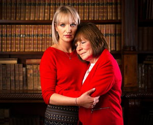 Clodagh's sister Jacqueline Connolly and mum Mary Coll. Photo: David Conachy