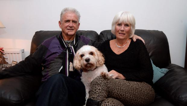 Peter Hegarty (70), who was attacked in Marlay Park, Rathfarnham, with his partner Maggie