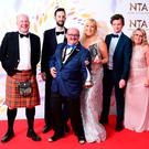 Brendan O'Carroll, Josh Cole, Jennifer Gibney and cast members, accepting the Comedy award for