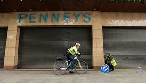 Gardai outside Penneys, which is set to reopen on Friday