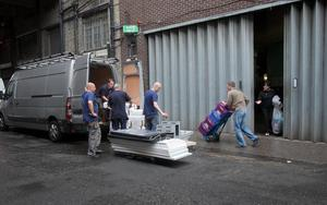 Stock being removed from the back of Clerys following the sudden closure of the department store on Earl Place, Dublin.