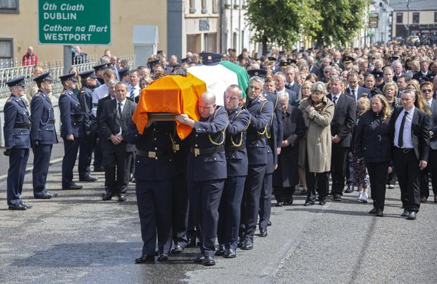 Sunday's State funeral. Photo: Colin Keegan/Collins Dublin