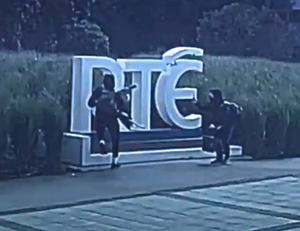The act of vandalism at RTE to promote the show
