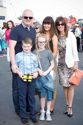 the Hannigan family, Gerard, Rebecca, 21 Helena, Jack, 8 and Emily, 12 from, Clondalkin enjoying a late Father's Day