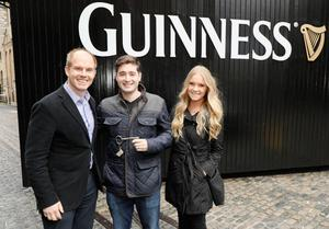Competition winners James and Kaitlin Morrissey were given the keys to the Guinness Storehouse by Mark Sandys, Global Head of Beer for Diageo