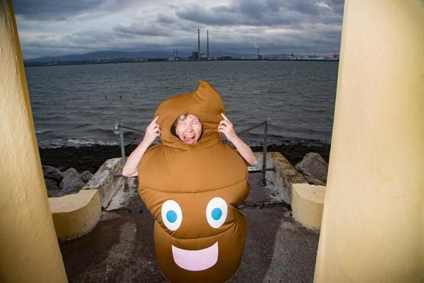 Swimmer Benedikta McSharry at last night's protest at Dollymount Strand