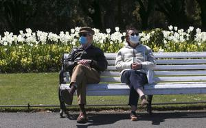 People enjoy the fine weather in the Phoenix Park yesterday