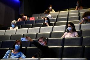 Cinema-goers will have to practise social-distancing