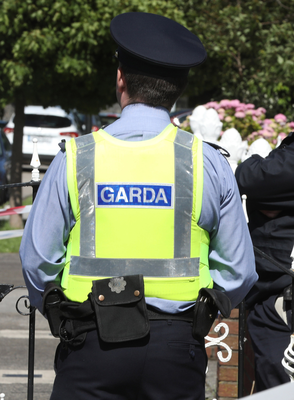 Gardai sealed off the road