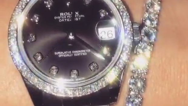 Dee's €40,000 Rolex watch