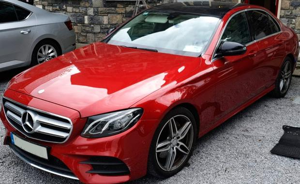 A Mercedes car seized in the garda raids