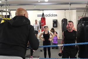 Pete Taylor teaching a class which  included Bobby Messett