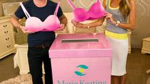 Ronan Keating and Storm Uechtritz launching the Marie Keating Foundation's new campaign, Give Your Bra for Breast Cancer.