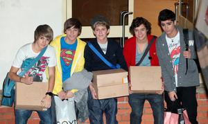 Niall Horan and One Direction at X Factor house in 2010