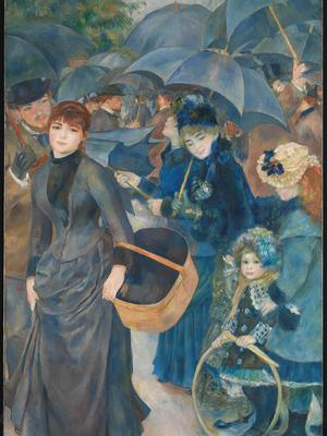 Detail from Renoir's The Umbrellas. Photo: PA