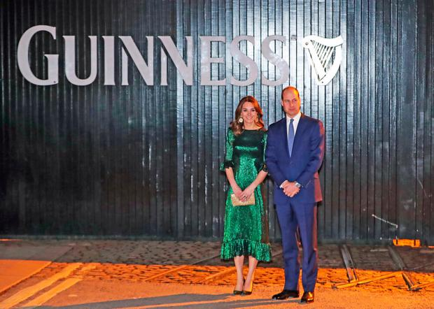 William and Kate at a reception hosted by the British ambassador in the Gravity Bar at the Guinness Storehouse. Photo: Niall Carson/PA Wire