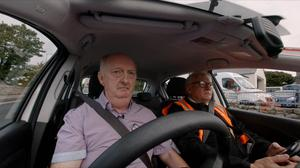 Denis Murray takes his driving test but Alan Carolan is not impressed on RTE One's The Test