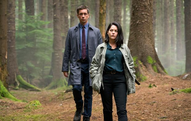 Killian Scott and Sarah Greene as detectives Rob Reilly and Cassie Maddox in Dublin Murders