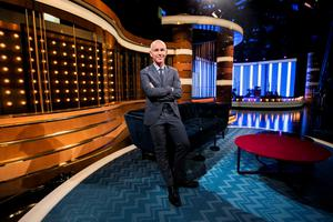 Ray D'Arcy on the set of his chat show
