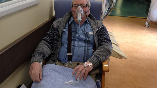 James Coyle, who suffers from breathing difficulties, had to spend the night in a chair at Beaumont Hospital, where overcrowding has reached crisis levels