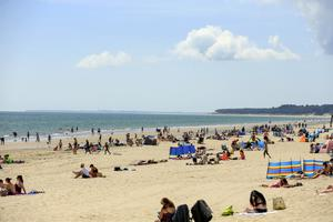 Beaches were busy with people soaking up the sunshine