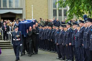 Monday 08 June 2015. Donnycarney: Funeral of Robert Kane, late of Dublin Fire Brigade and St. Vincent's G.A.A. Club.