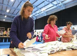 Ballots are checked at the RDS