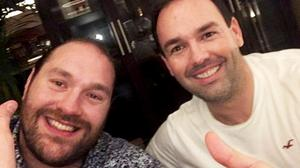 Daniel Kinahan (right) in the pub with boxer Tyson Fury