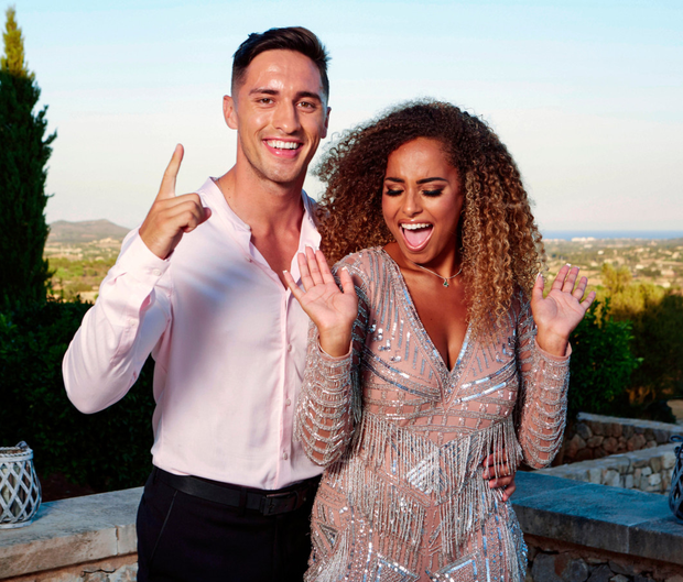 Winning Love Island couple Greg and Amber were in London to celebrate her 22nd birthday, where they were joined by fellow contestant Yewande Biala