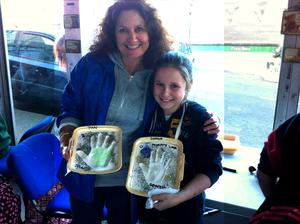 Janet Phillips and her daughter, Georgia when she was 11 at Bray Culture night