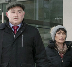 Murder accused Patrick Quirke outside court with his wife, Imelda