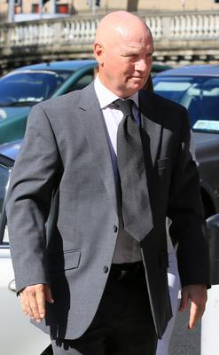 David Speedie pictured leaving the Four Courts yesterday after the opening day of a High Court action for damages. Photo: Courts Collins