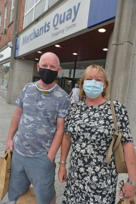 Bernadette and Eddie Sheehan were masked up