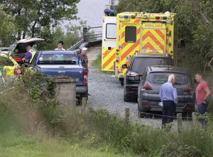The scene of the tragic accident at Lough Keel in Donegal