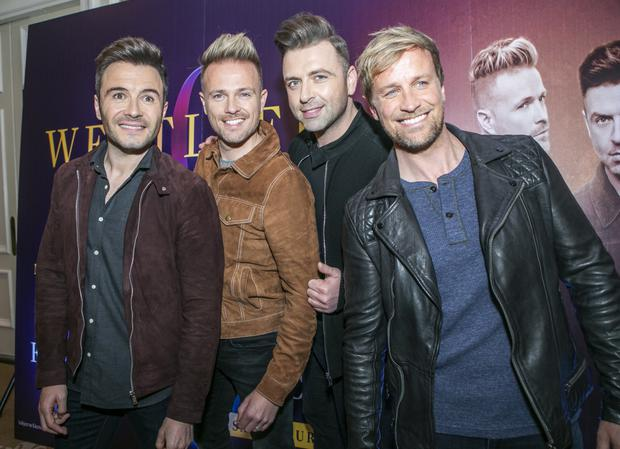 Nicky with Westlife