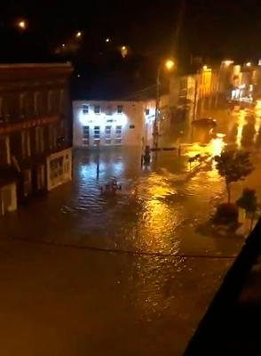 Pictures showed the extent of flooding in Bantry, Cork