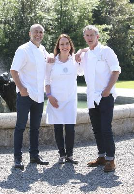 Chefs, Michel Roux Jr, Fiona Uyema, and Kevin Thornton, at the Taste of Dublin