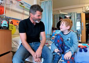 Roy Keane with Calvin Cleary, age 8