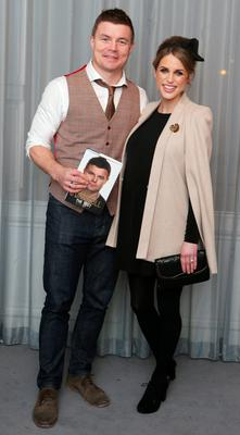 Brian O Driscoll and Amy Huberman pictured at the launch of The Test - My Autobiography by Brian O' Driscoll with Alan English in 25 Fitzwilliam Place