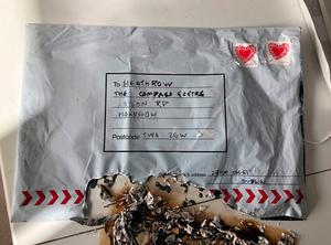 One parcel was sent to Heathrow airport in London