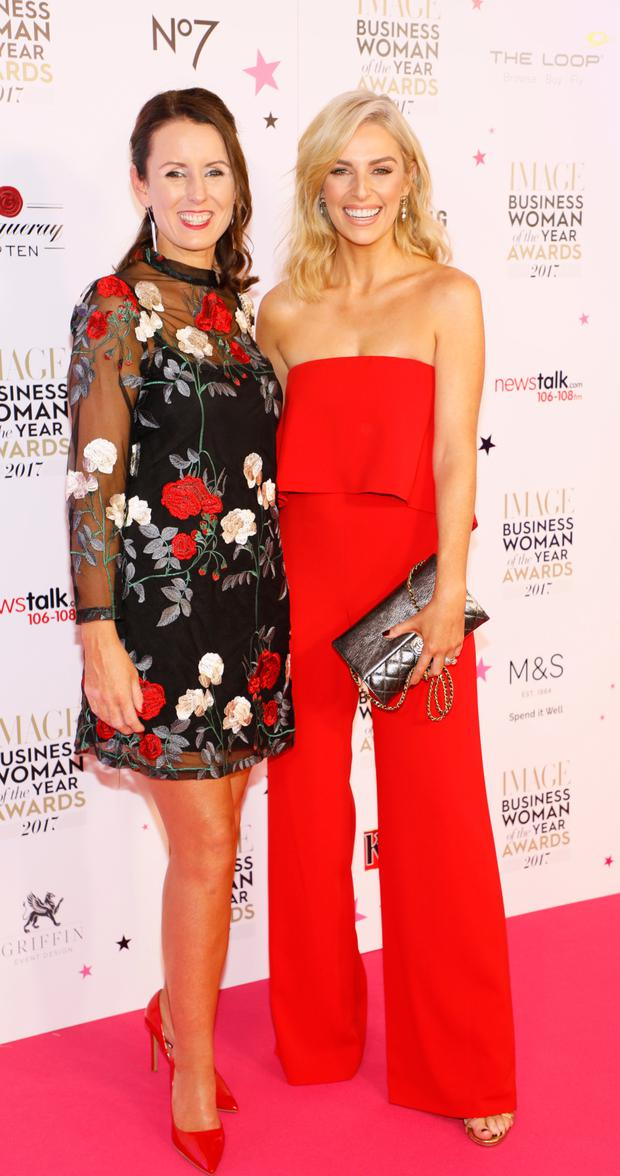 Cancer victim Jenny Taaffe (left) with Pippa O'Connor