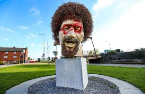 The statue of Luke Kelly was targeted by vandals last month