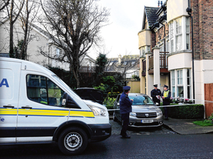 Gardai at the scene of the fatal stabbing in Kingswood