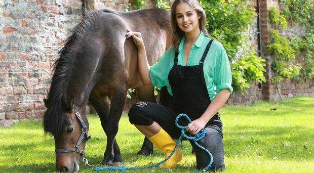 Animal lover and model Thalia Heffernan at the launch of the 2015 Flavour of Final County SHow