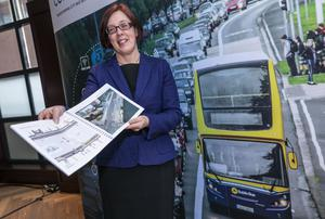 Anne Graham, CEO of the NTA, at the launch of the latest consultation phase for the Bus Connects plan