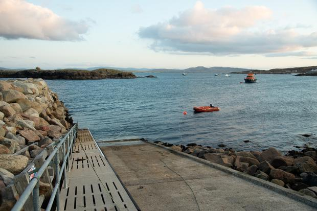 The pier on Arranmore from where the car went into the sea