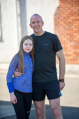 This weekend Oliie McHugh will run an ultra marathon in his garden in Tenure, Co Louth to raise funds for frontline workers as a way of saying thank you for all their hard work over the Covid-19 crisis. Picture Ciara Wilkinson